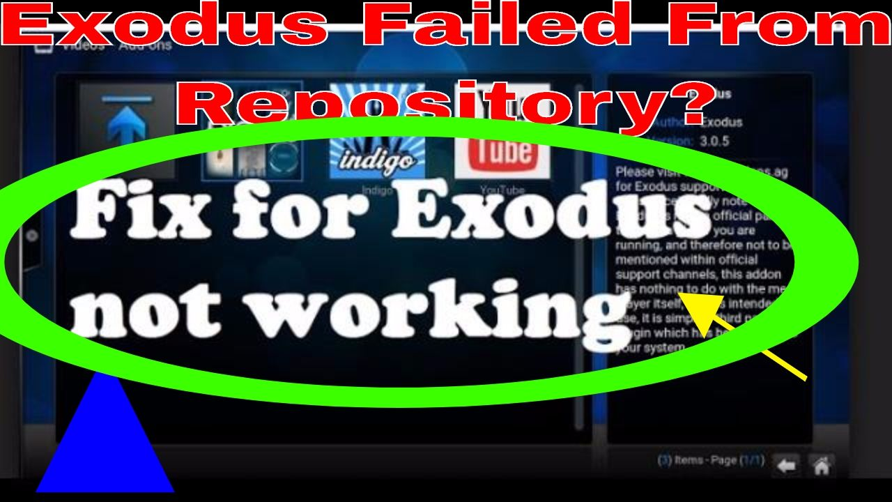 Exodus Addon Updated 6/11/17Exodus Failed from Repository