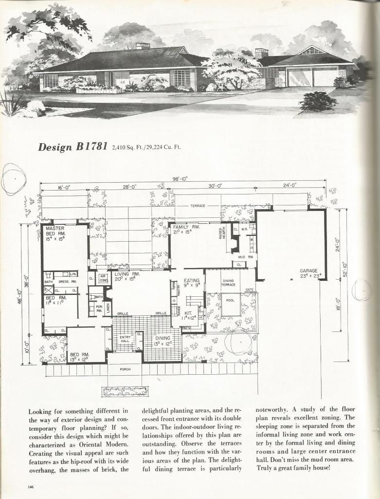 Vintage House Plans Dramatic Mid Century Contemporary Haus