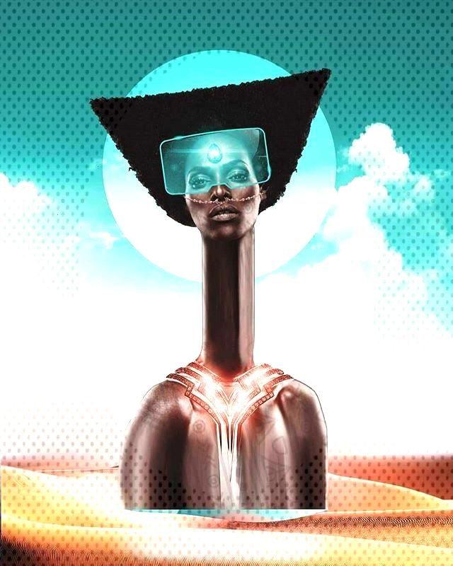 Aztec Afro futurism. Art Via Rickii Ly . . . . ------     - inspiration -