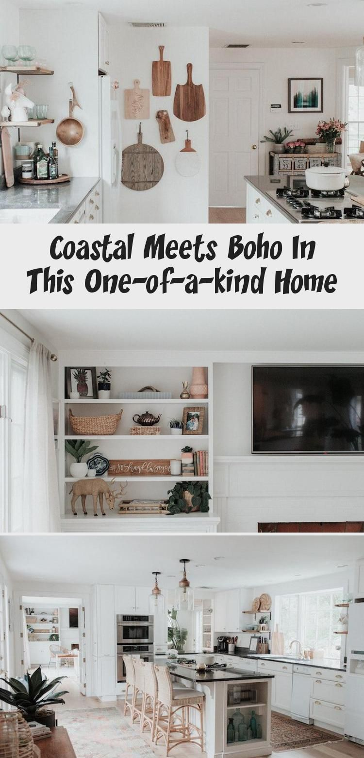 Coastal Meets Boho In This One Of A Kind Home Glitter