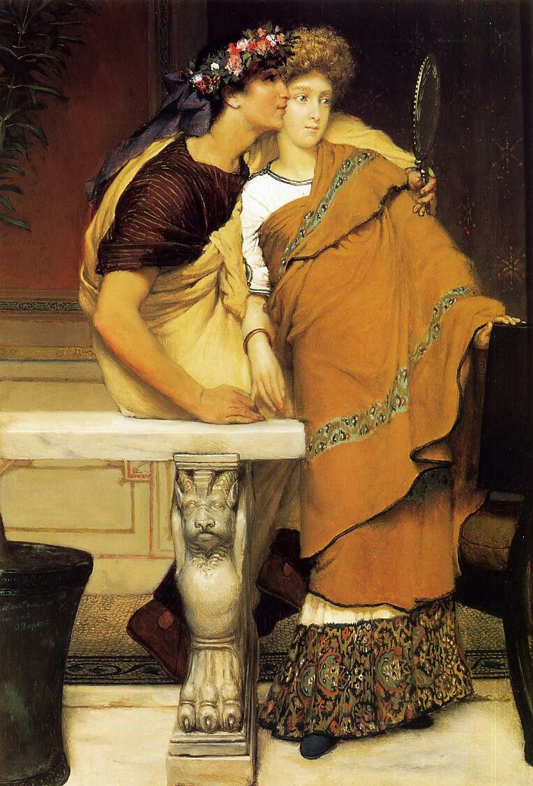 'The Honeymoon', 1868 Sir Lawrence Alma-Tadema,  Dutch - British, 1836 - 1912 In Private Collection