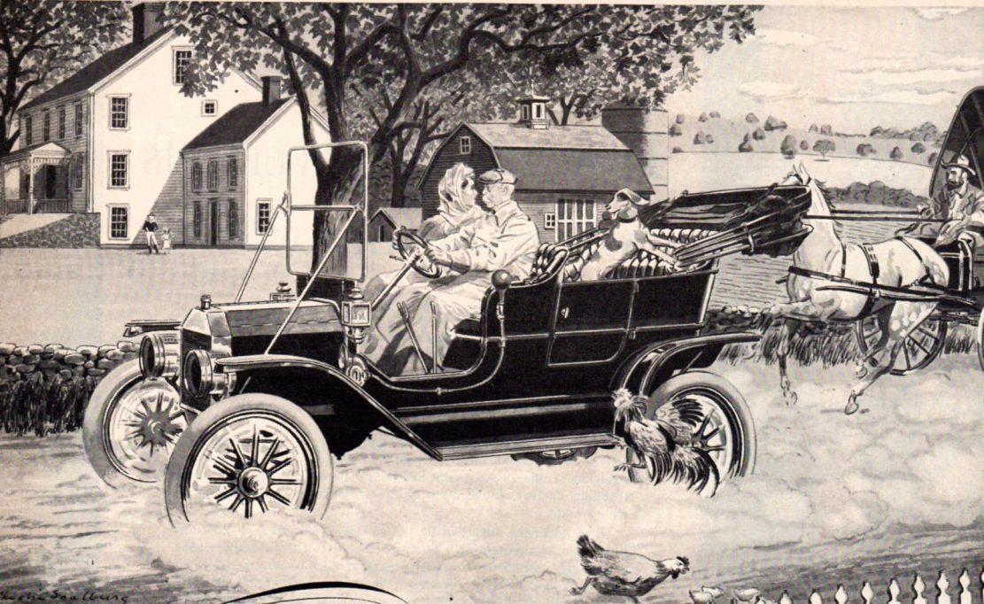 Model T Ford Forum Brass Era Model T Two Lever Artwork