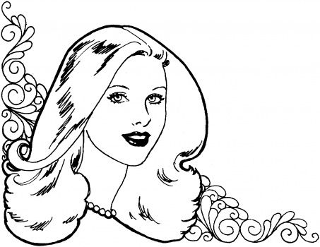 beautiful woman coloring page for kids and adults from peoples coloring pages gender coloring pages pretty girl coloring pages - Beautiful Coloring Pages Girls