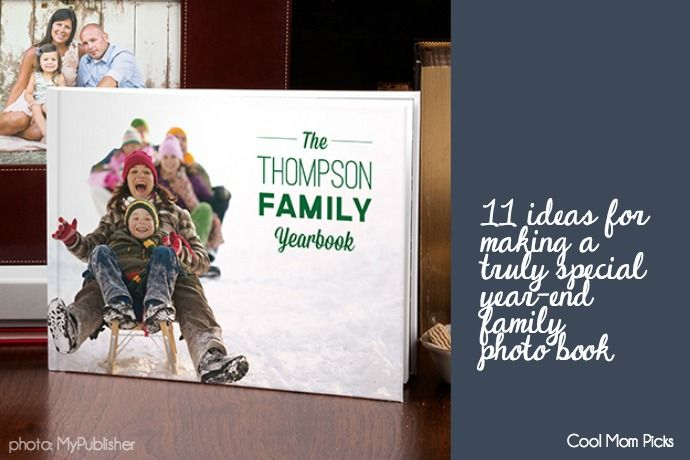 11 Creative Ideas For Year End Family Photo Books Family Yearbook Photo Book Photo Book Cover