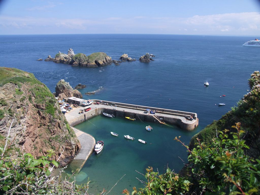 the old creux harbour in sark which is said to be one of