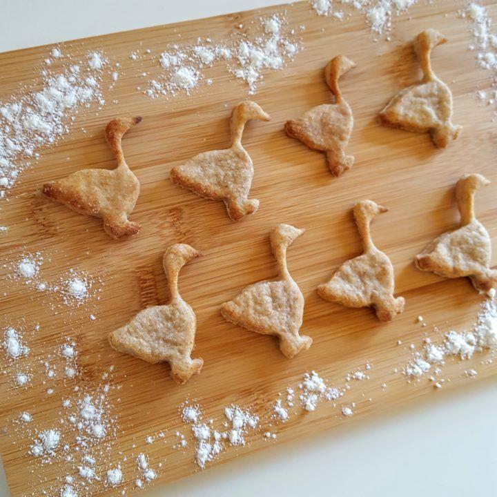 Vegetarische Martinsgänse - leckere Dinkelkekse ohne Zucker | frau-piefke-schreibt.de