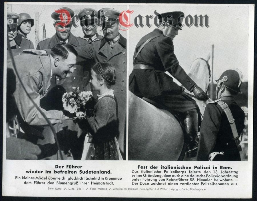 orig. WWII Press Photo - Hitler im Sudetenland 1938 - Police in Rome / Italy - Date of publication: Oct. 24, 1938