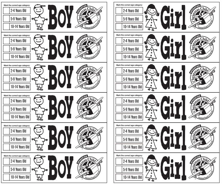 Printable Labels Operation Christmas Child Shoebox Alexandria First Baptist C Operation Christmas Child Shoebox Operation Christmas Child Operation Christmas