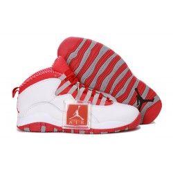 Nike Air Jordan 10 Mens white red