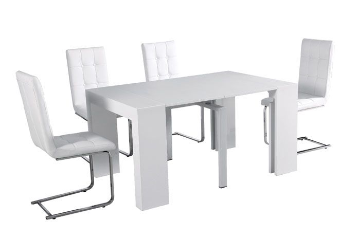 Mesa de comedor plegable varias posiciones mahaiak for Mesa plegable diseno
