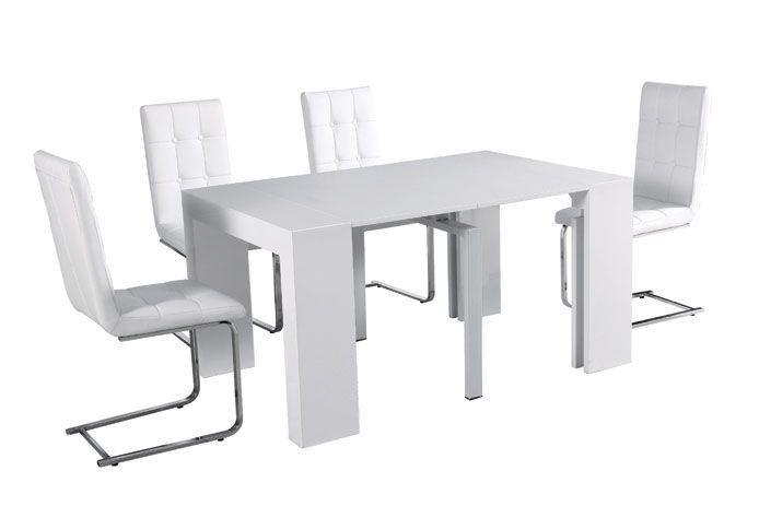 Mesa de comedor plegable varias posiciones mesas - Mesa plegable salon ...