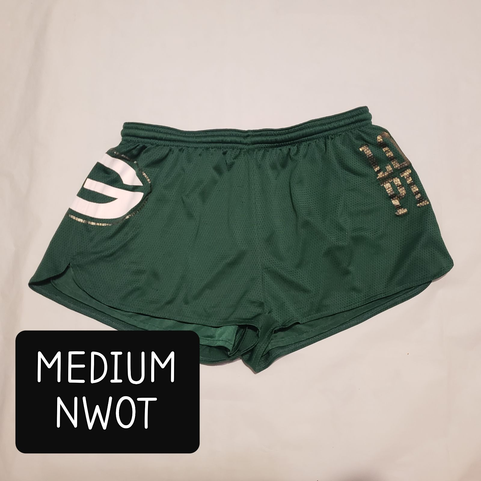 Size Medium Victoria S Secret Green Bay Packers Shorts New Without Tags In 2020 Green Bay Packers Women Gym Shorts Womens Victoria Secret