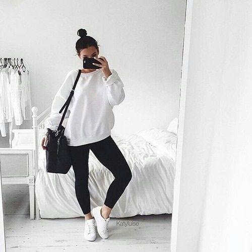 b7aa863002e5 sweatshirt sweatshirt with black jeans and white vans and bun and purse