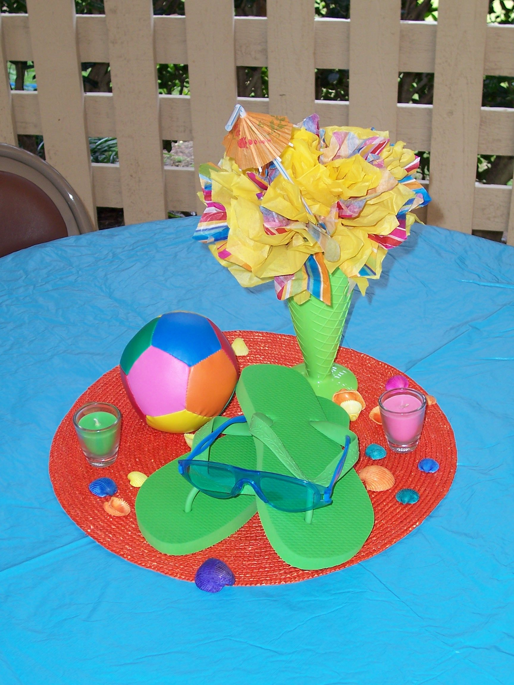 Pool Party Centerpiece Ideas kids pool party decorations Pool Party Centerpiece