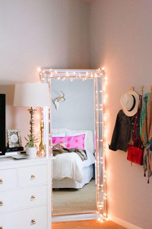 Corner mirror with lights | HÔMË DECØ®!! | House rooms, Home ...