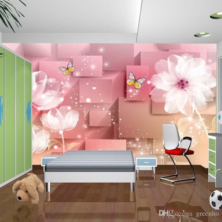3d Murals Elegant 3d Photo Wallpaper White Lotus Wall Mural Silk ...