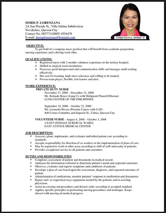 Resume Examples For Nurses 8 Nurses Resume Samples Examples