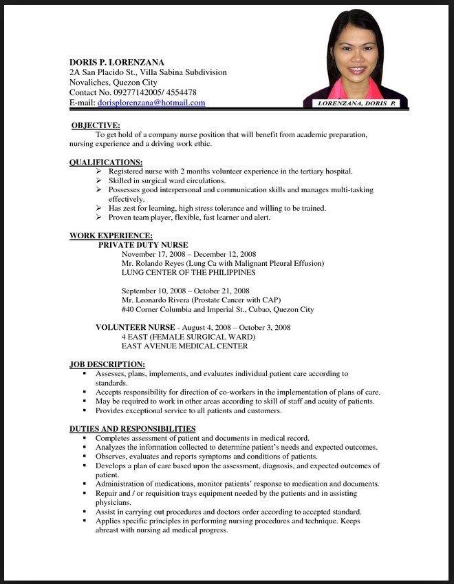 Resume Examples For Nurses 8 Nurses Resume Samples Examples