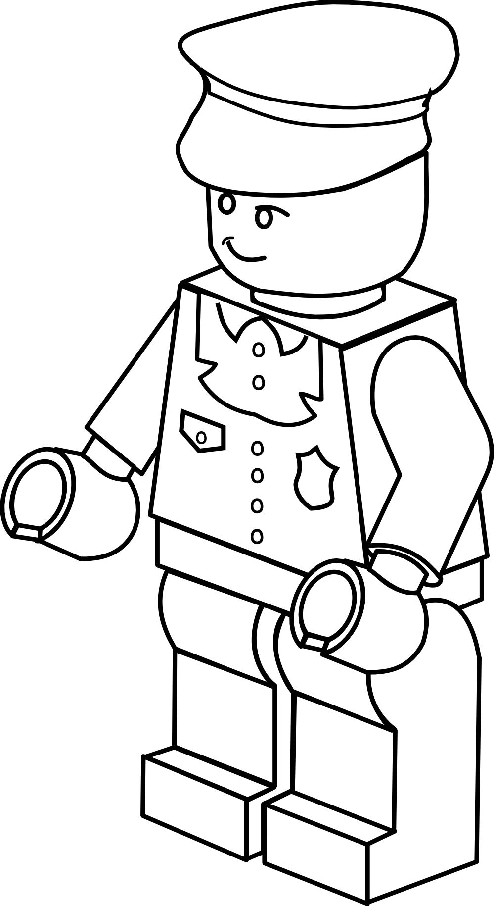 clipartist.info lego town policeman black white line art