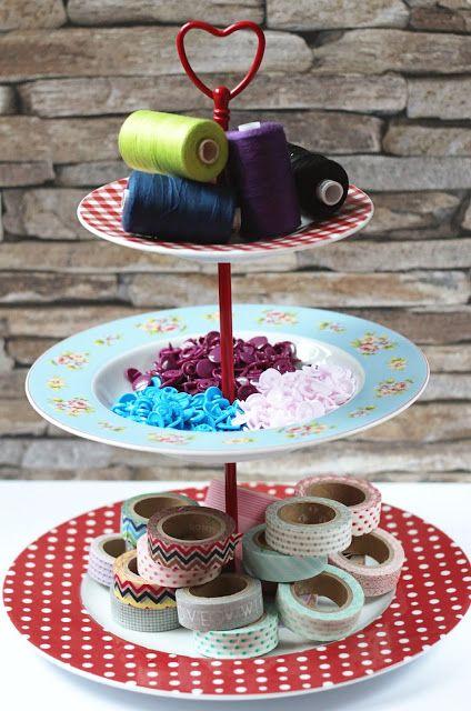 tutorial anleitung diy f r eine selbstgemachte etagere aus porzellantellern crafts. Black Bedroom Furniture Sets. Home Design Ideas