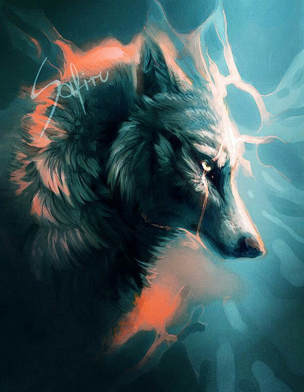 Beautiful wolf art, credit to whoever made it