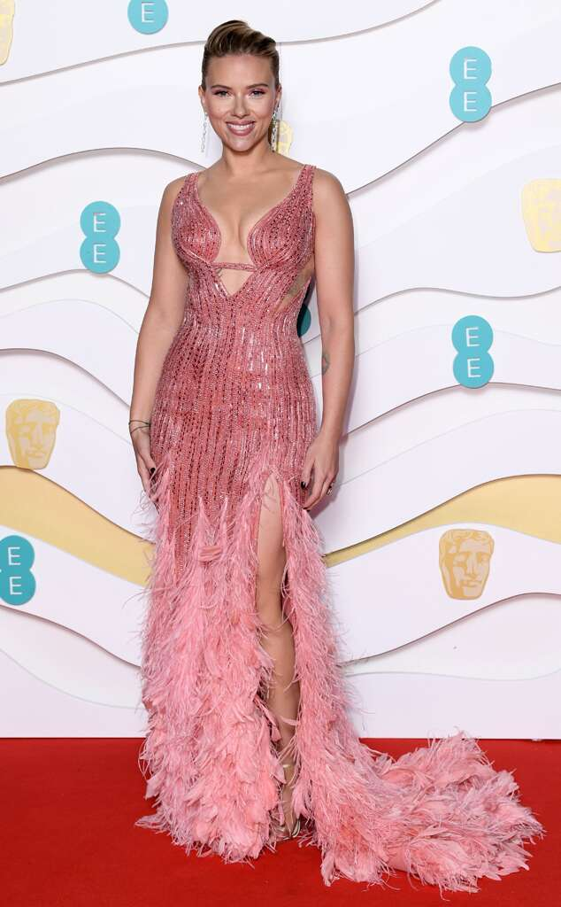 Scarlett Johansson from 2020 BAFTA Film Awards Red Carpet
