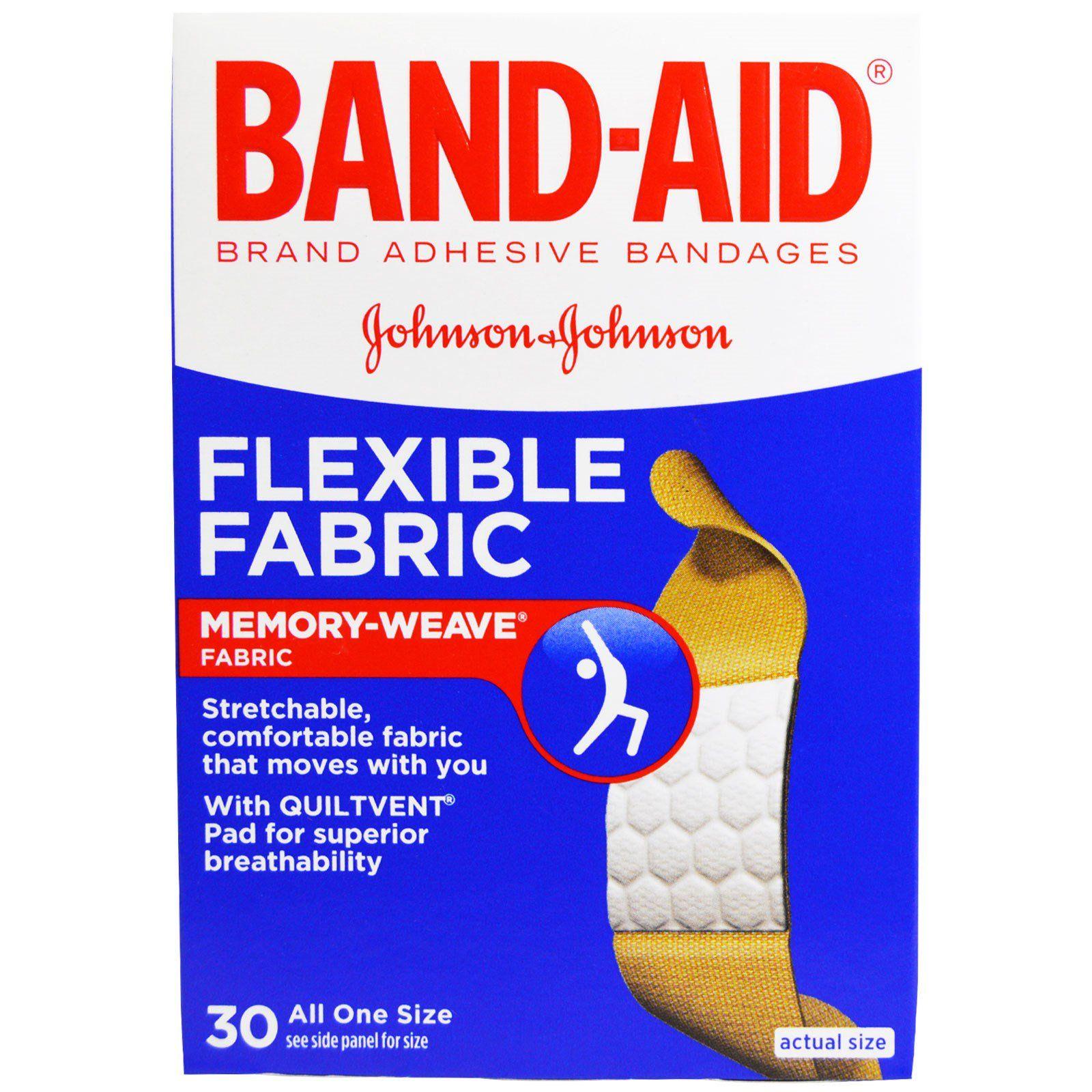 Band Aid Adhesive Bandages Flexible Fabric 30 Bandages In 2021 Band Aid Bandage Flexibility