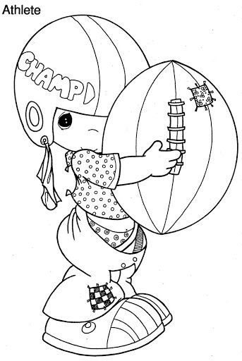 Boy playing football coloring pages