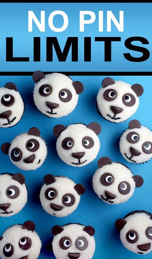 No pin limits - Easy Little Pandas Chocolate Cupcakes. Original bakerella.com http://www.bakerella.com/easy-little-pandas