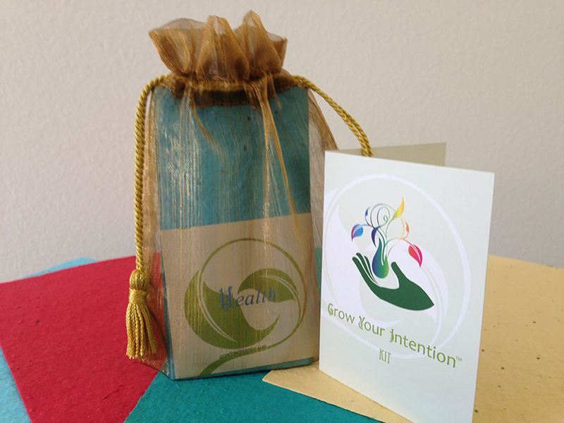 This is the Grow Your Intention ~ Health Kit.  You can get one for yourself or a friend @ http://www.growyourintention.com #lawofattraction #intnention #health #wellbeing #gifts #bridalshower #partyfavors