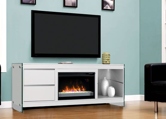 Biscayne Tv Stand With A Contemporary Classicflame Electric