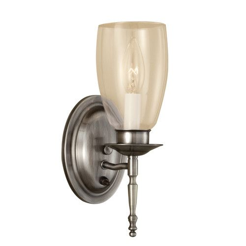 Norwell lighting 3306 legacy single light tall wall sconce with clear glass pewter with clear glass indoor lighting wall sconces up lighting