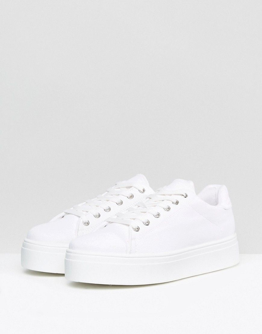ASOS DAY LIGHT Lace Up Sneakers - White
