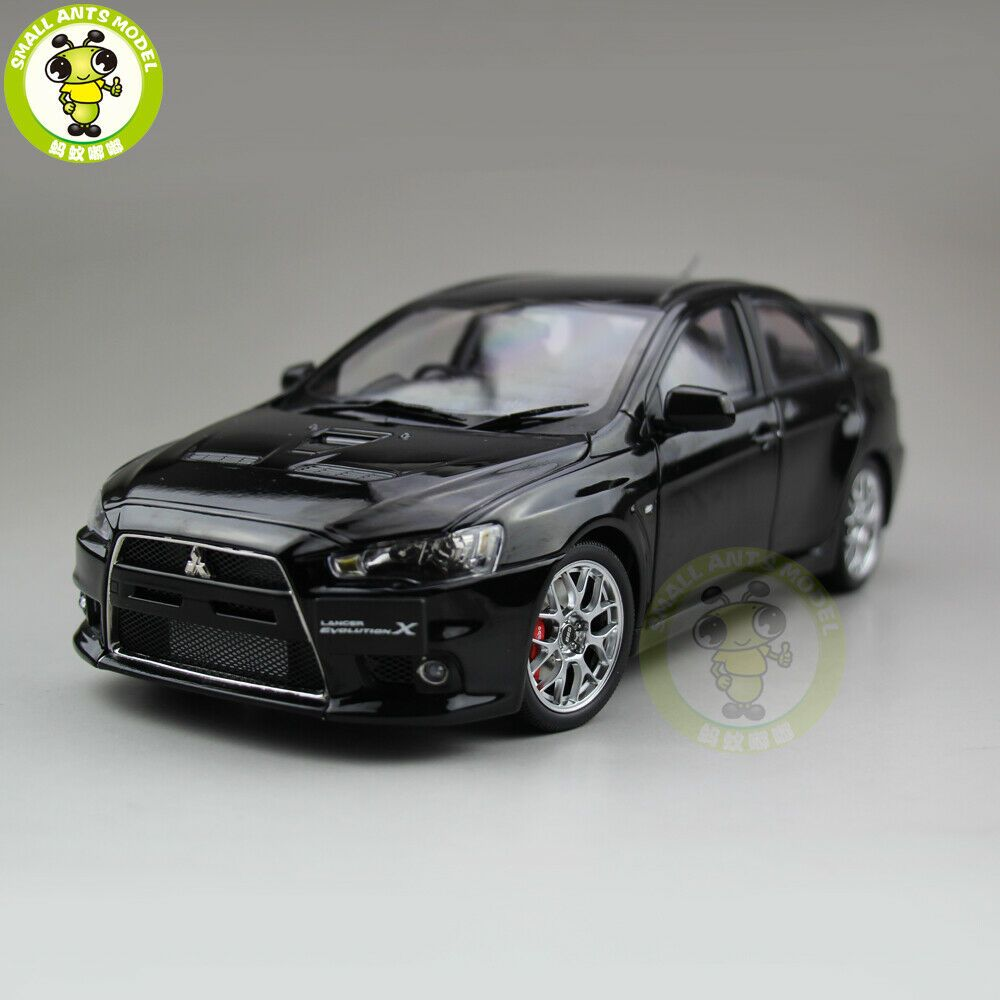 Ebay Sponsored 1 18 Mitsubishi Lancer Evo X 10 Bbs Rhd Diecast Car Model Toys Kids Gifts Black Toy Cars For Sale Diecast Diecast Cars