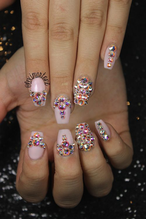 Swarovski Crystal Nail Art Nails In 2018 Pinterest Nails Nail