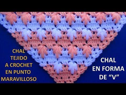 chal tejido a crochet en punto rococo y relieve video 2 - YouTube ...