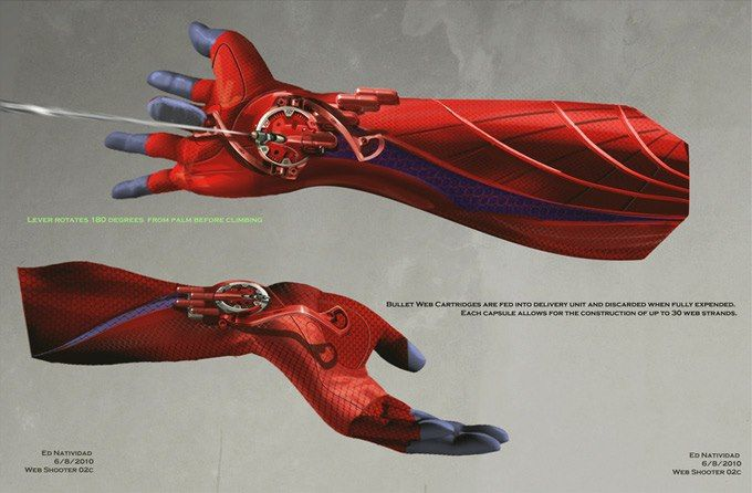 the amazing spiderman movie conceptart web shooter