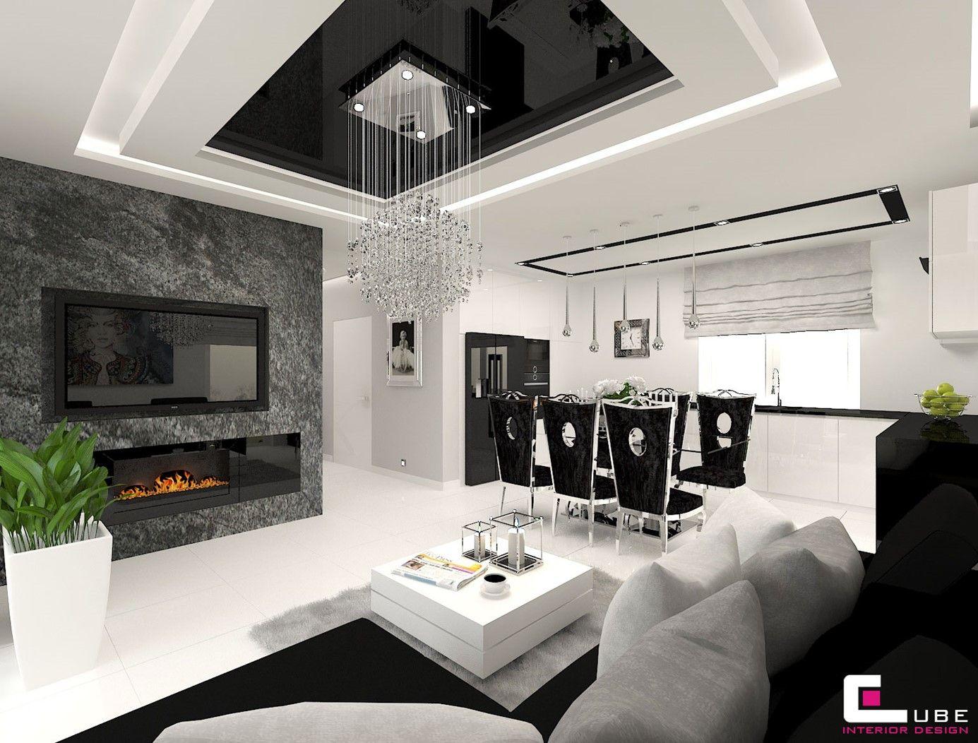 Salon Z Kuchnia Aranzacje Inspiracje I Pomysly Na Modny Wystroj 2020 Modern Luxury Bedroom Luxurious Bedrooms Large Living Room