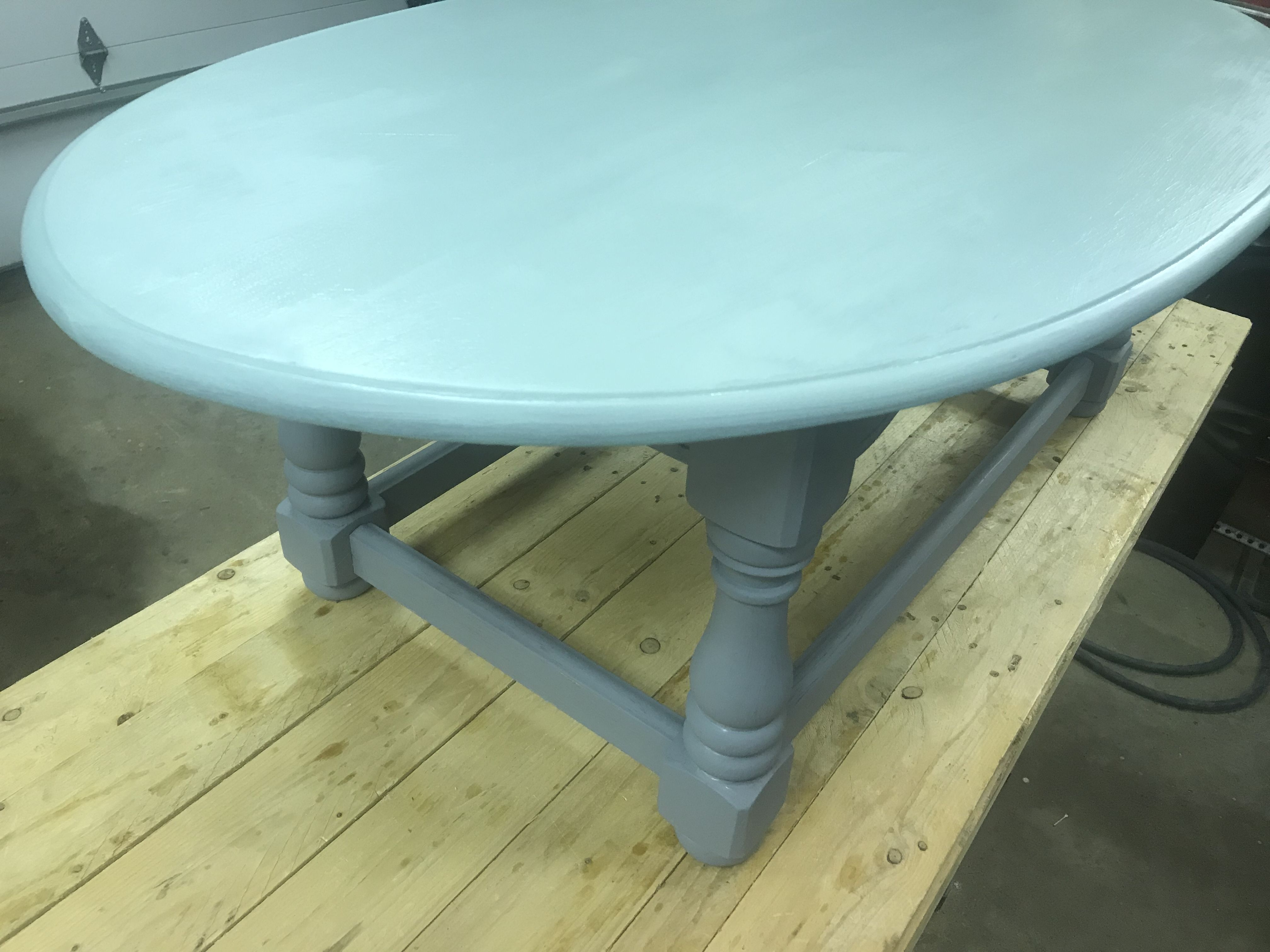 reclaimed coffee table a coat of milk paint works wonders my rh pinterest com