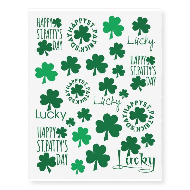 Henna Tattoo Kits Ireland: Happy St. Patrick's Day Temporary Tattoos