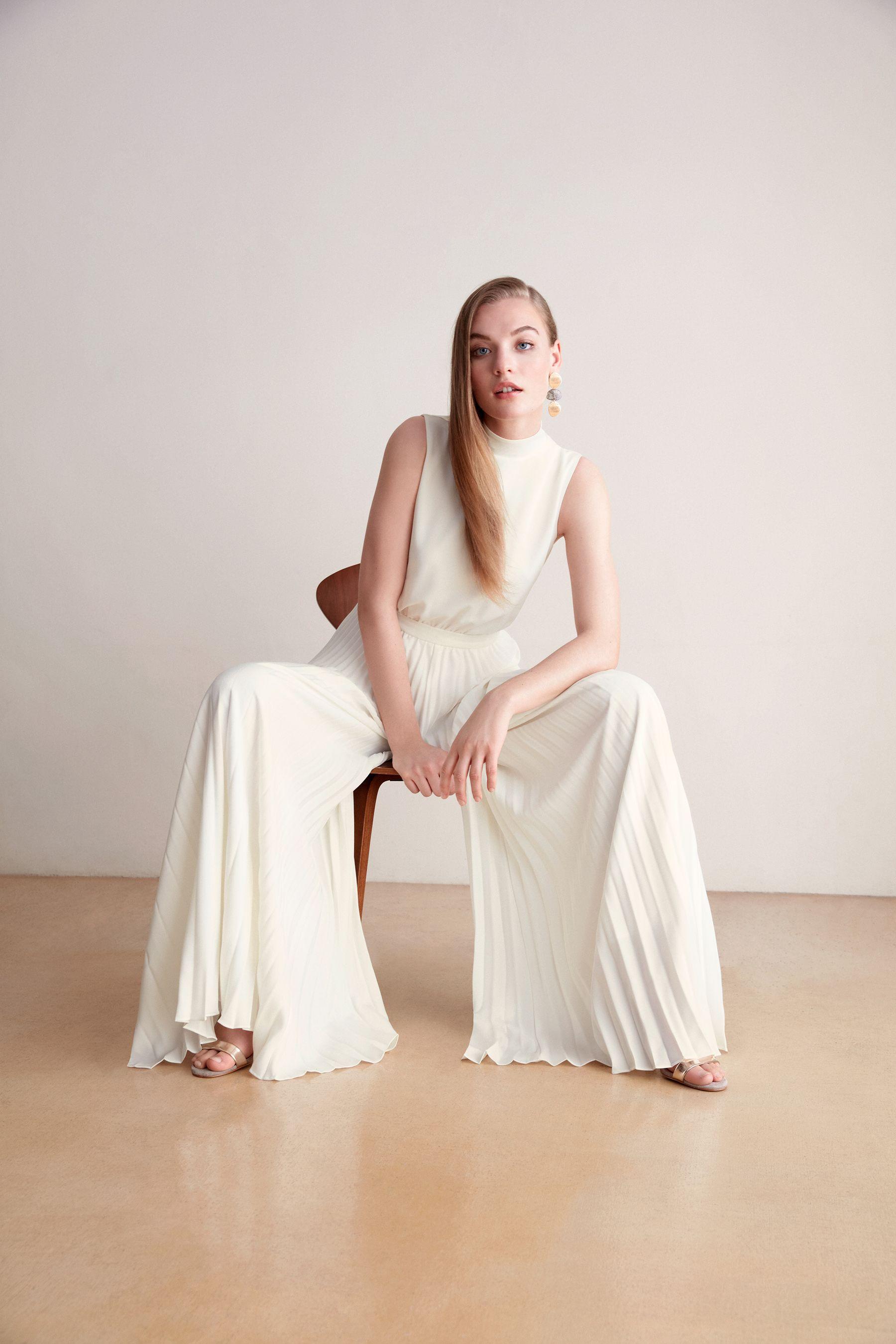 plissee-jumpsuit | plissee, eleganter overall