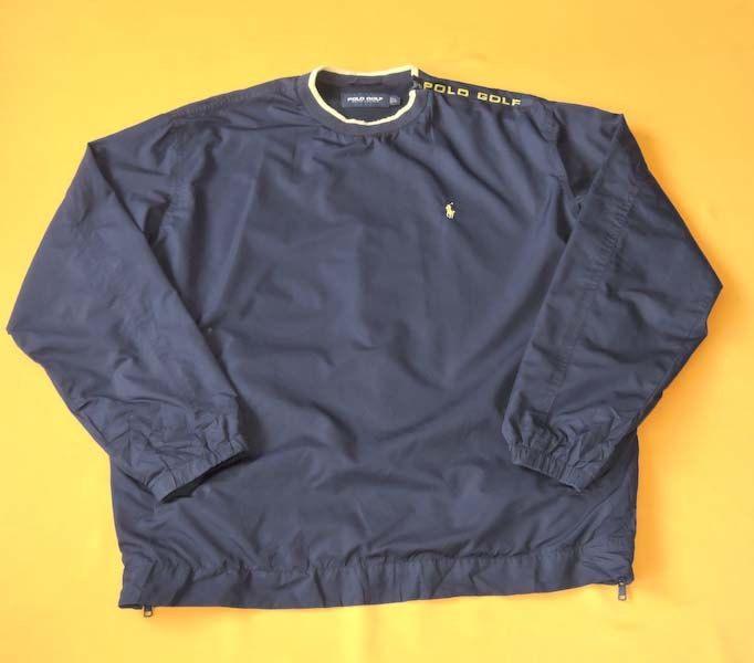 Polo Golf Crew Neck Jacket Jersey Vintage 90s Windbreaker Blue Signature  Pony Polyester Trainer Training Sweater Sweatshirt Track Top