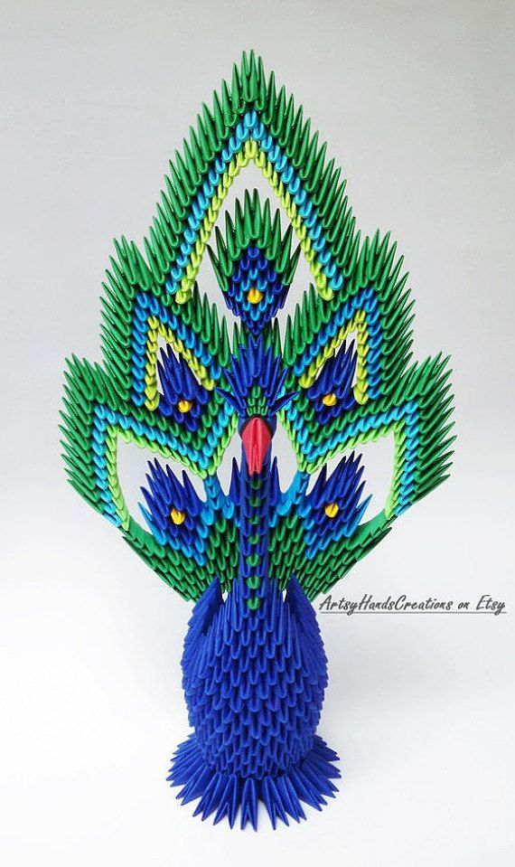 3d Origami Open-tail Peacock 3d Origami di ... - photo#20