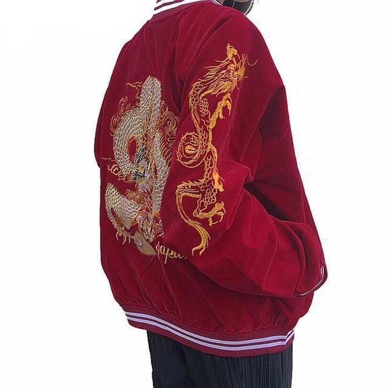 Japan Dragon Bomber Jacket Fashion Jackets For Women Street Wear