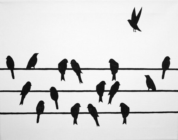 Bird on a wire template - photo#41