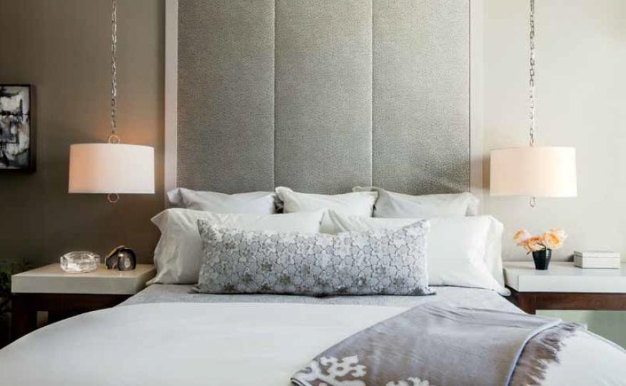 Hanging Pendants Upholstered High Headboard By Terrat
