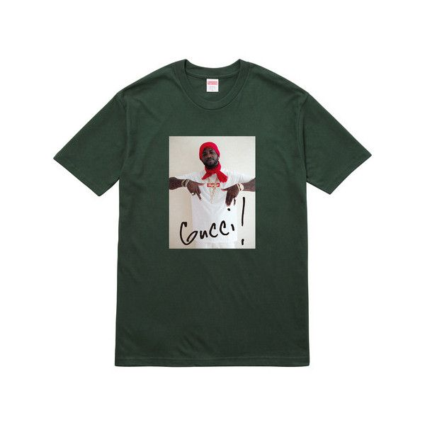d9d0b6c9b Supreme Gucci Mane Tee ($44) ❤ liked on Polyvore featuring tops, t-shirts,  shirts, t-shirt's, shirt top, gucci top, gucci t shirt, t shirt and tee- shirt