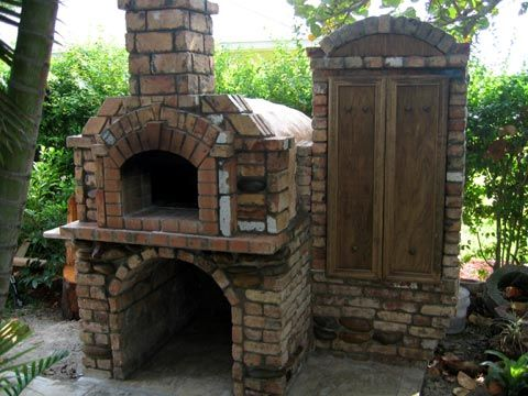 12 Diy Smokehouses For Cooking And Preserving Food Smokehouse Brick Smoker Pizza Oven