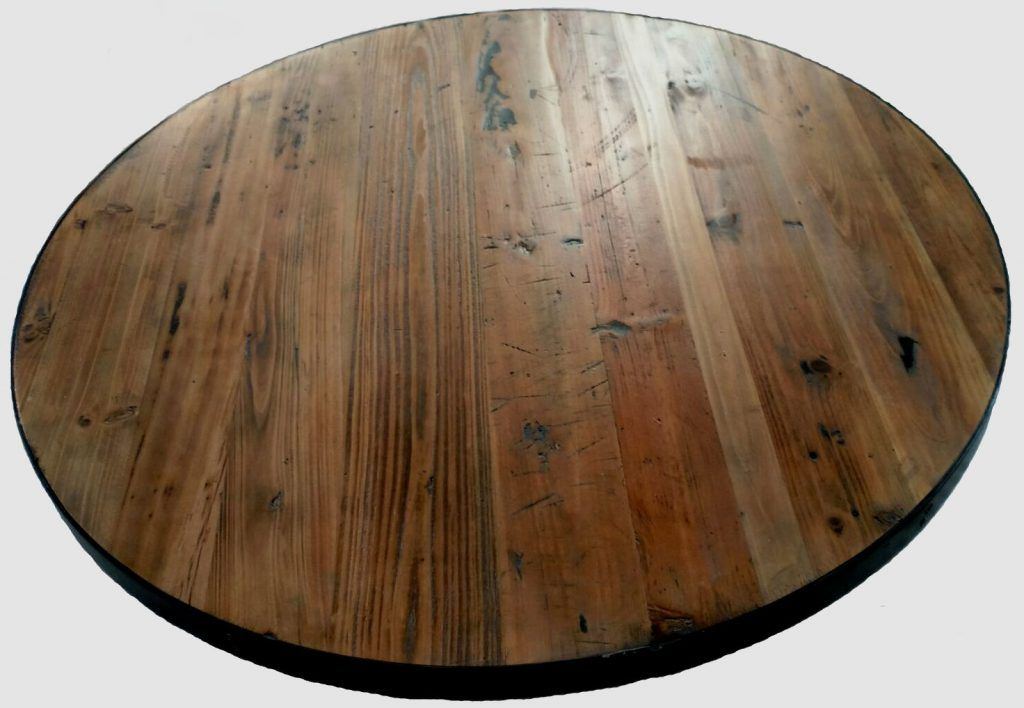 Reclaimed Round Wood Table Tops Restaurant Cafe Supplies