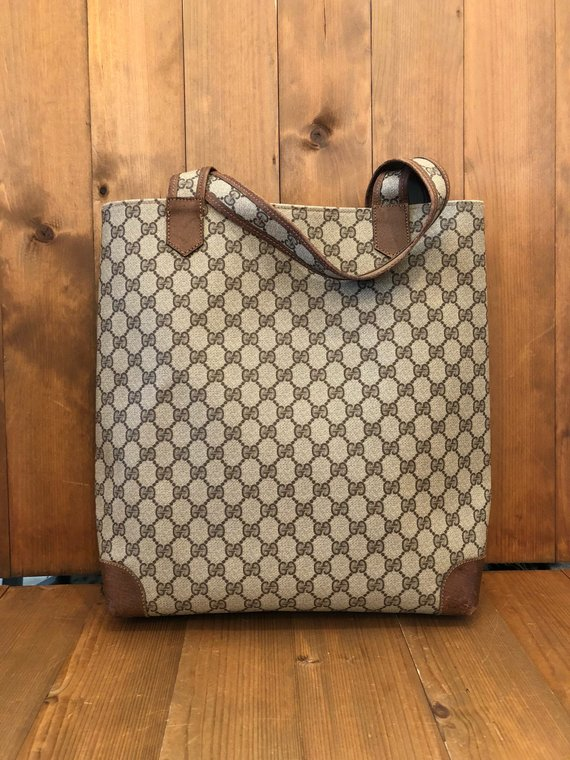 8a733be75 Authentic GUCCI GG Brown Monogram Canvas Tote in 2019